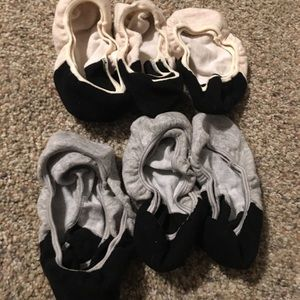 6 pairs of no-show socks (sz 6-9) barely worn
